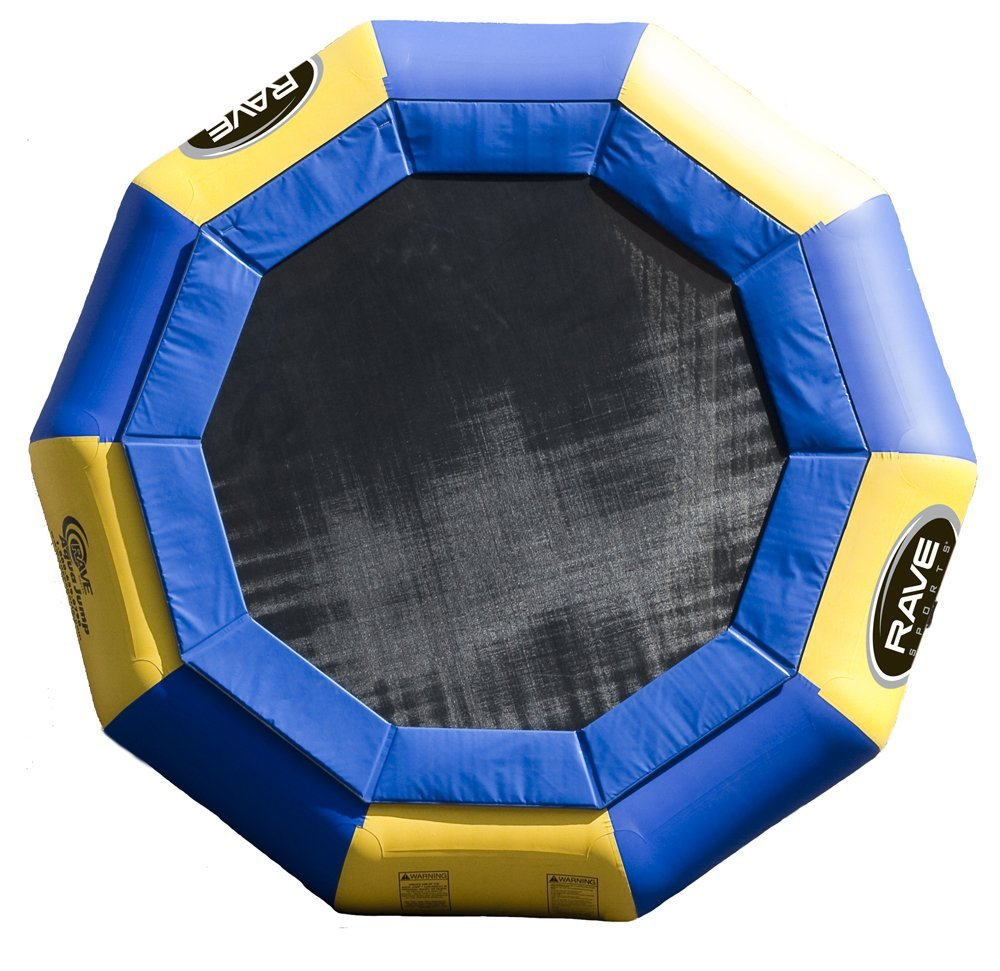 Top view of Rave Trampoline out of water