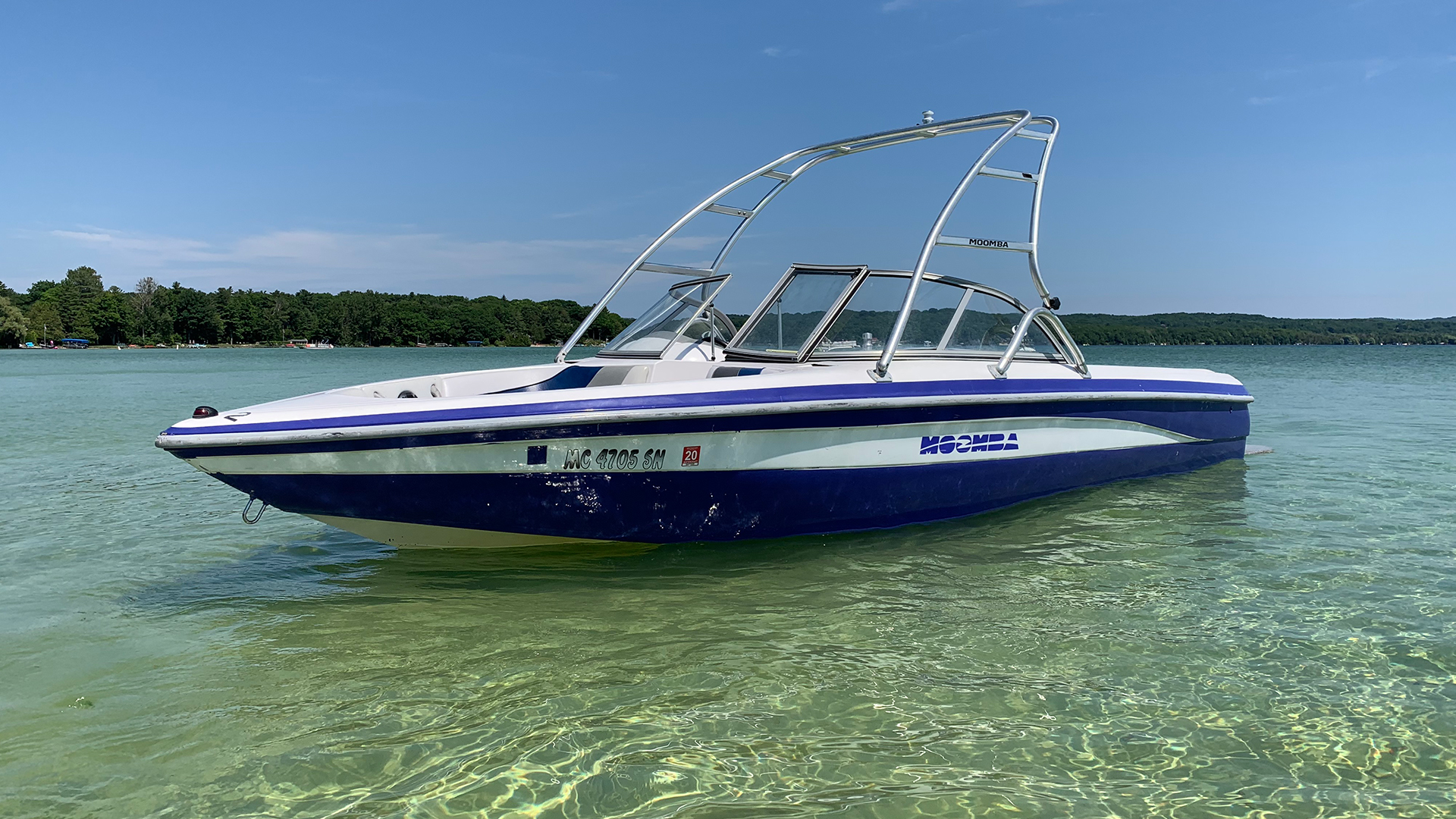 Sunset Moomba wakeboat port profile